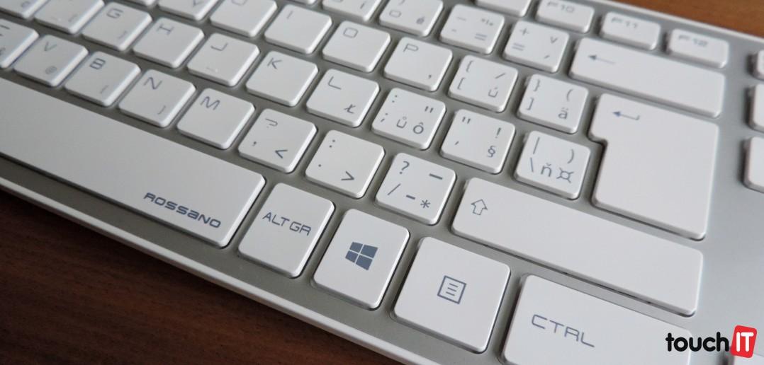61d05debf ... dodávajú k stolným počítačom, je ich veľkosť. Neraz aj veľkosť klávesov  a občas tiež rozloženie klávesov. Práve tomu sa chce vyhnúť model Hama  Rossano.