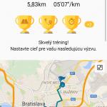 Výsledok tréningu v behu