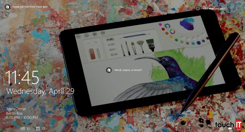 Windows 10 vás môže upozorniť na užitočné funkcie a aplikácie. Odporúčania sa zobrazia na uzamknutej obrazovke