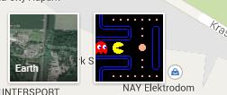 Ikona Pac-Man režimu sa nachádza v spodnej časti obrazovky