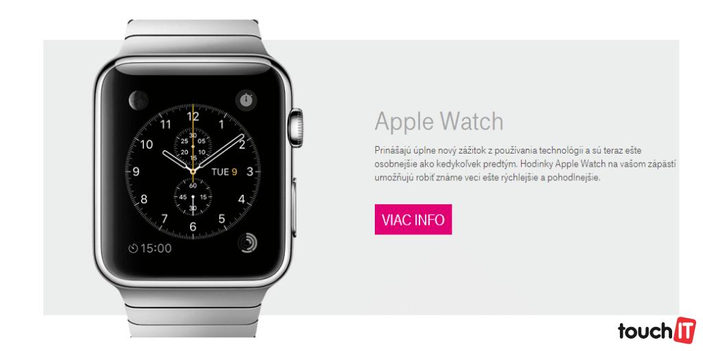 Telekom plánuje predávať hodinky Apple Watch. Dátum spustenia predaja je neznámy, operátor zisťuje záujem