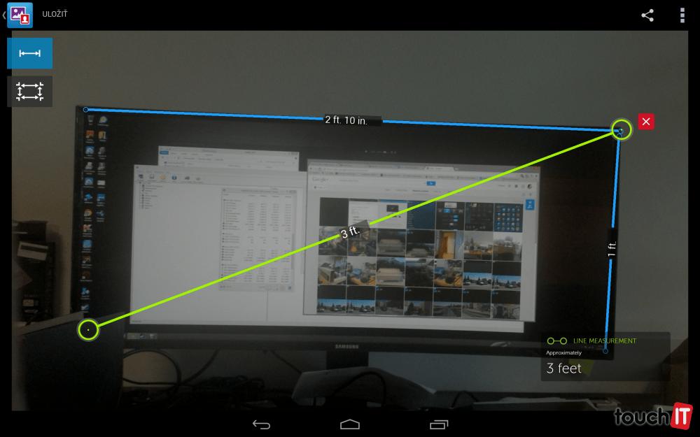 V tomto prípade sú čísla trochu presnejšie, aj keď určitá odchýlka tu je. Monitor má rozmery 82,2 × 36,4 cm. Namerané hodnoty sú 86 × 30,5 cm