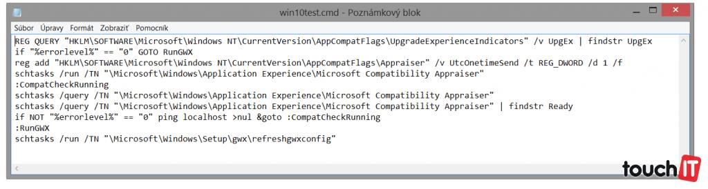 """Ak máte nainštalované všetky aktualizácie, aplikáciu môžete """"nasilu"""" vyvolať pomocou skriptu. Ten si vytvoríte veľmi jednoducho"""
