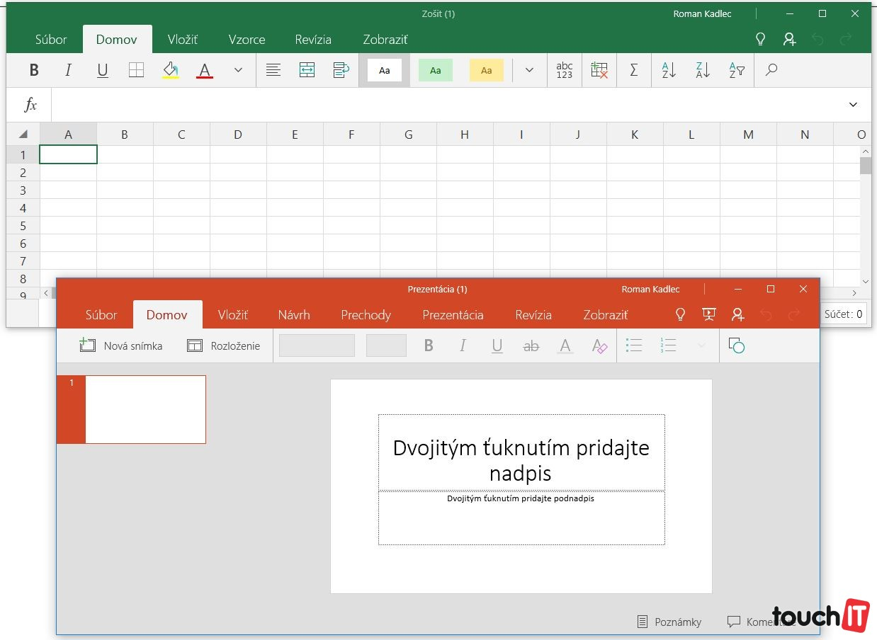 Excel Mobile a PowerPoint Mobile