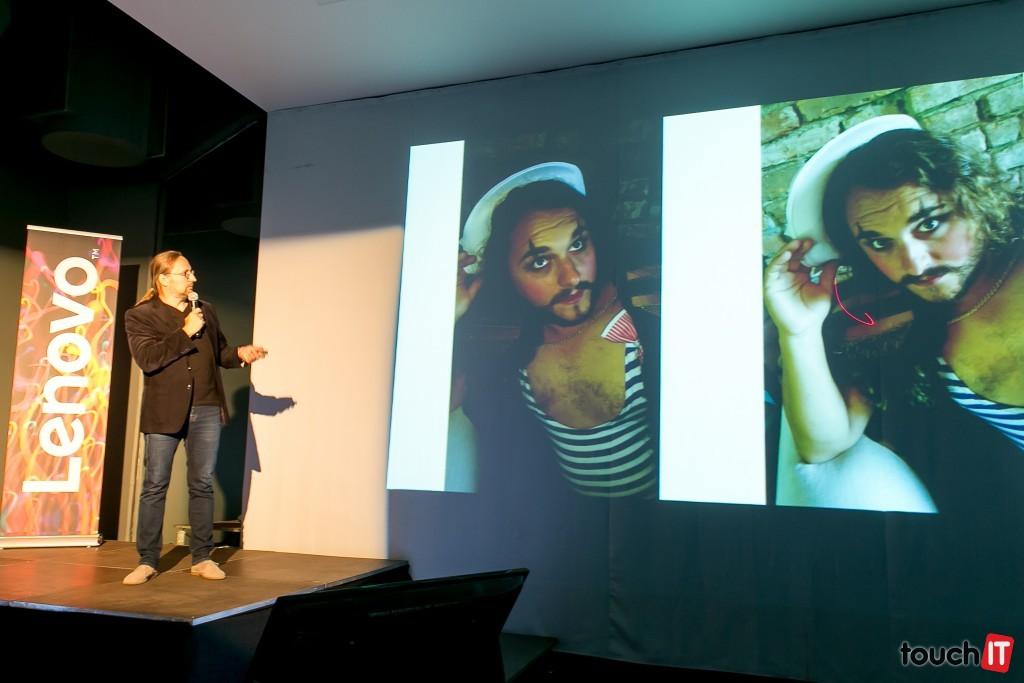 Peter Foto prezentuje výsledky svojej práce s telef=onom Lenovo VIBE Shot