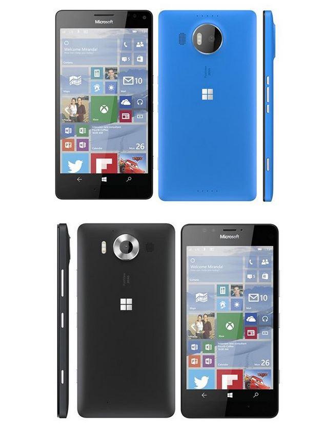 Hore verzia XL, dole štandardná Lumia 950