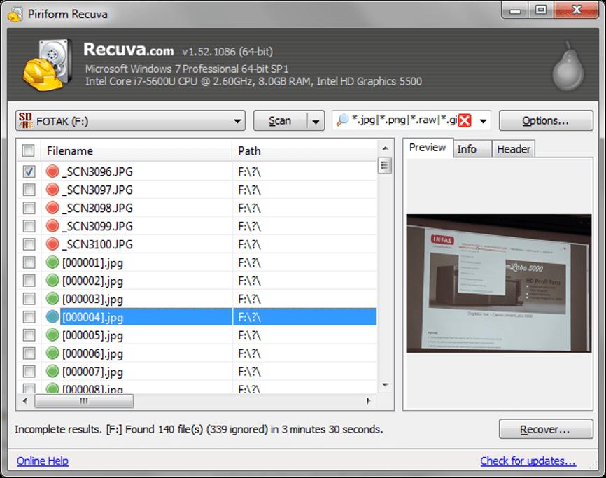 Jednoducho použiteľný program s vyhľadávacími filtrami