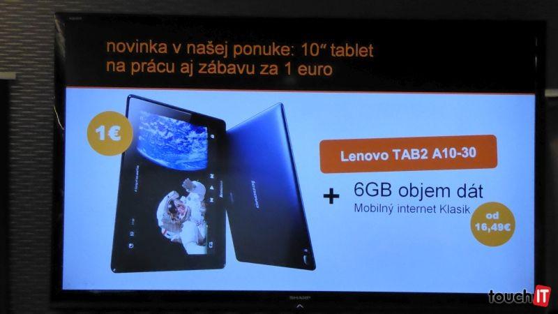 Orange minulý rok predal 99 tisíc tabletov s mobilným internetom. Tento rok chce dosiahnuť aspoň 90% tohto výsledku