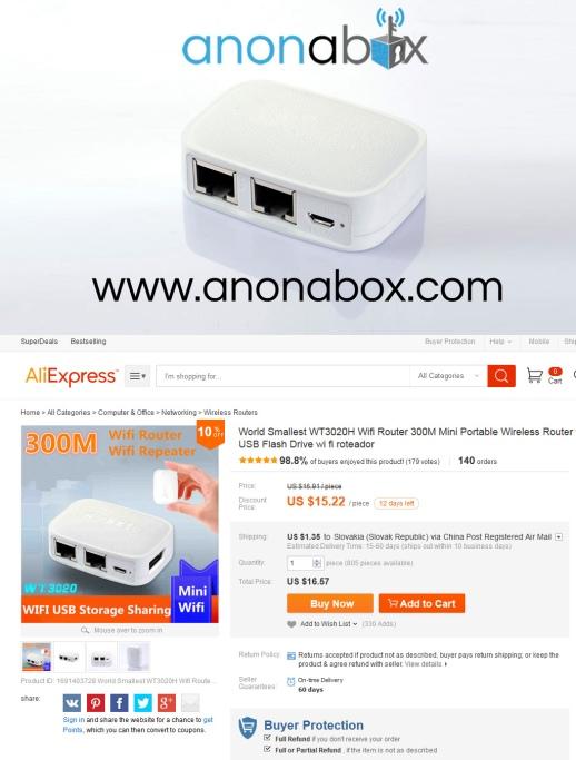 Vývojár Anonaboxu akosi zabudol uviesť, že tvrdý štvorročný vývoj jeho 50 dolárového zariadenia pozostával vlastne len zo zakúpenia miniroutera z Číny za 15 dolárov