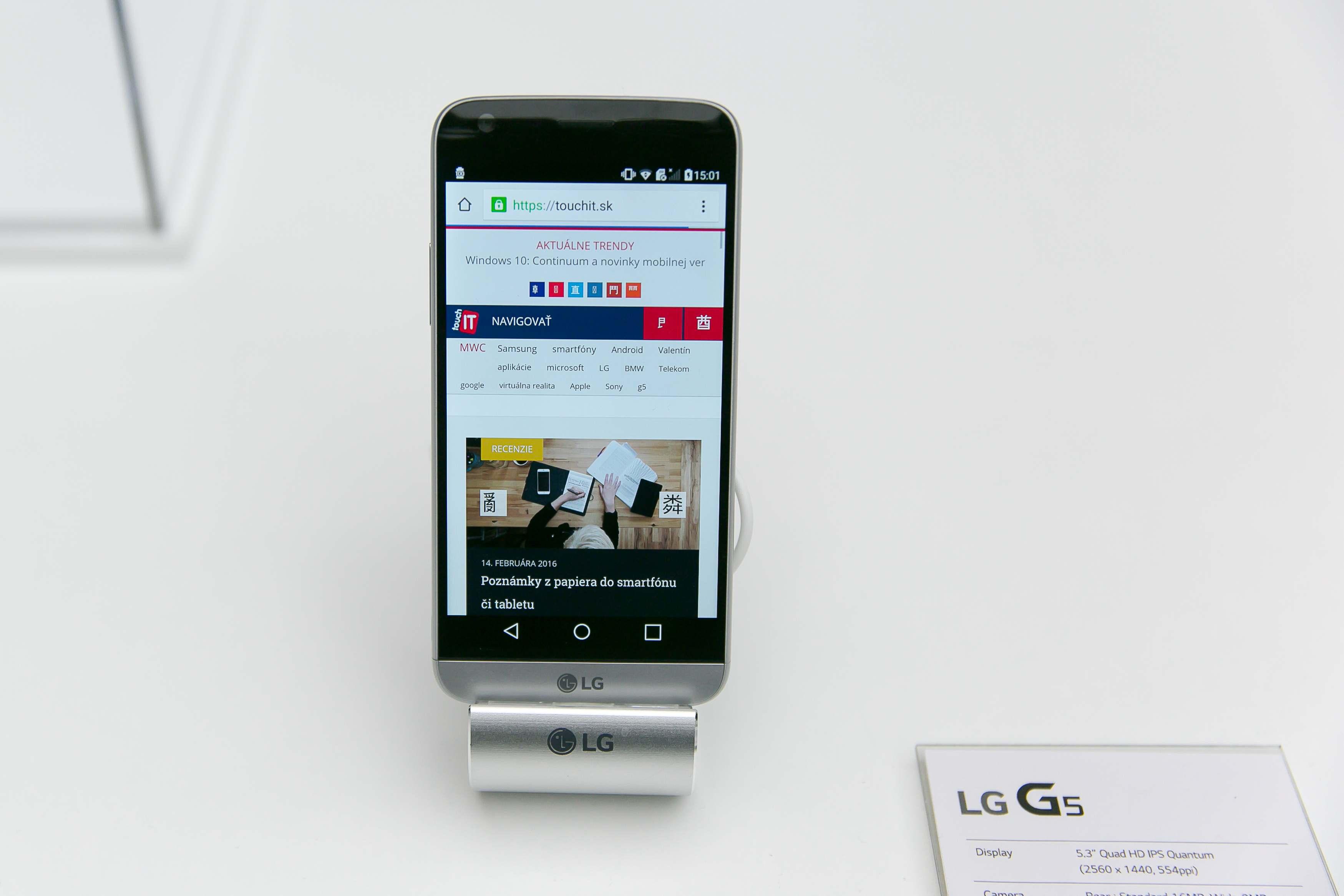 LG G5 je revolučné riešenie s možnosťou výmeny modulov. Zmeníte ho napr. na lepší fotoaparát alebo Hi-Fi prehrávač so slúchadlami