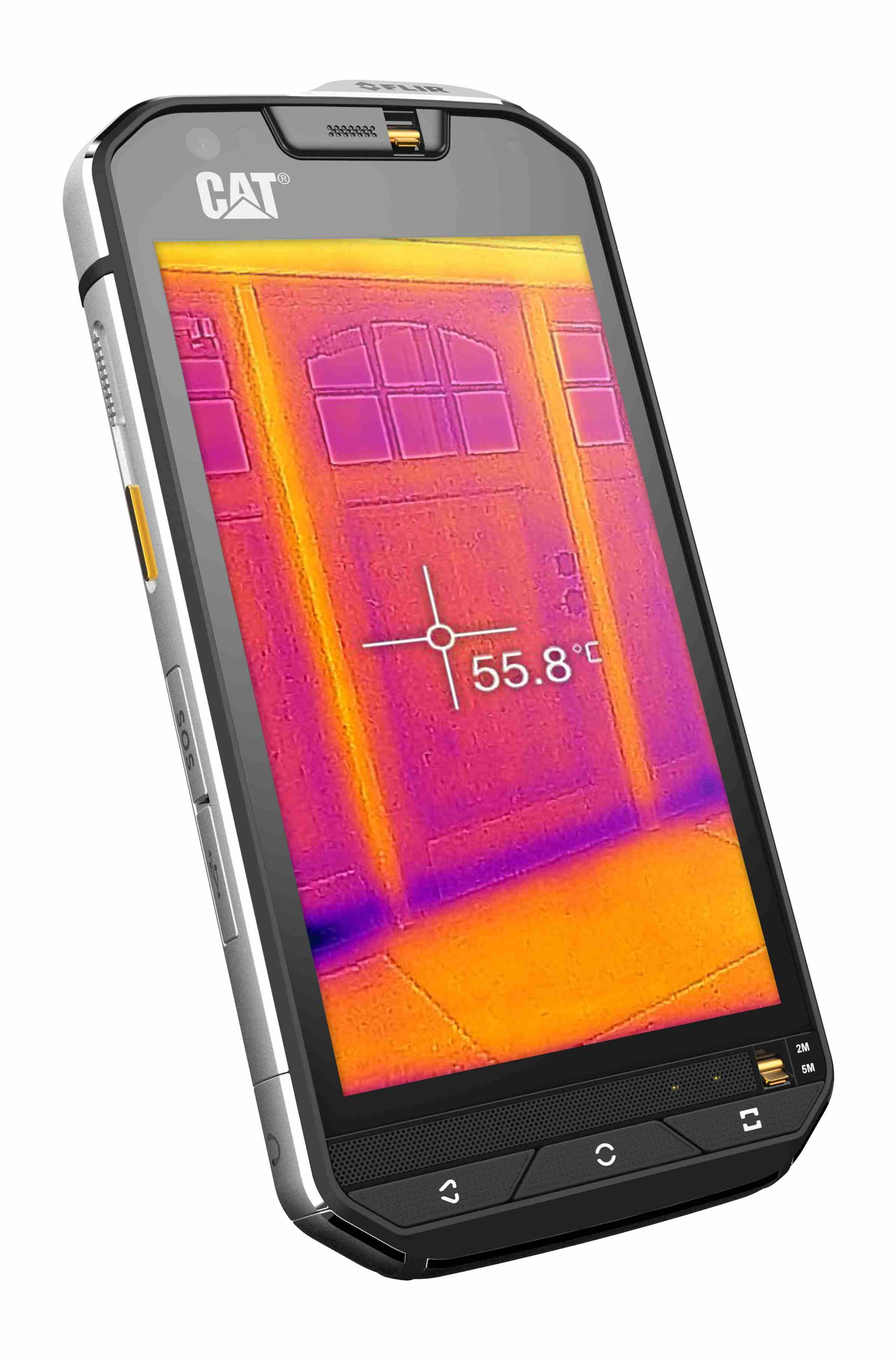 CAT S60 je telefón, ktorý obsahuje aj termokameru a dokáže rozpoznávať teplé objekty. Foto: CAT