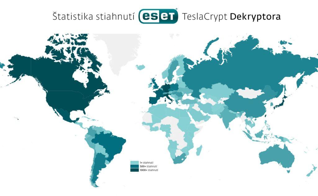 Inforgrafika, zobrazujúca stiahnutia dešifrovacieho nástroja pre TeslaCrypt