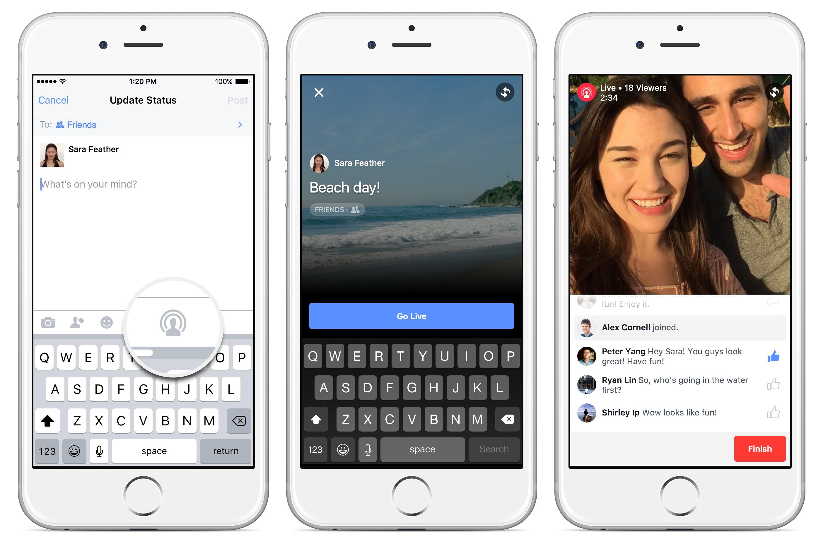 Pomocou Facebooku môžete kamarátom v priamom prenose ukázať, kde sa nachádzate a čo je okolo vás