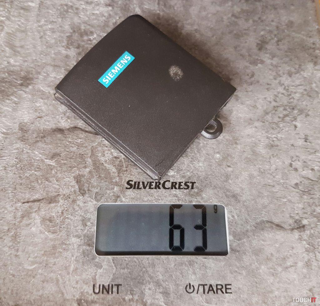 Hmotnosť batérie Siemens S6