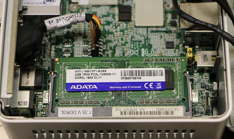 DDRL slot na minidesktope Intel NUC