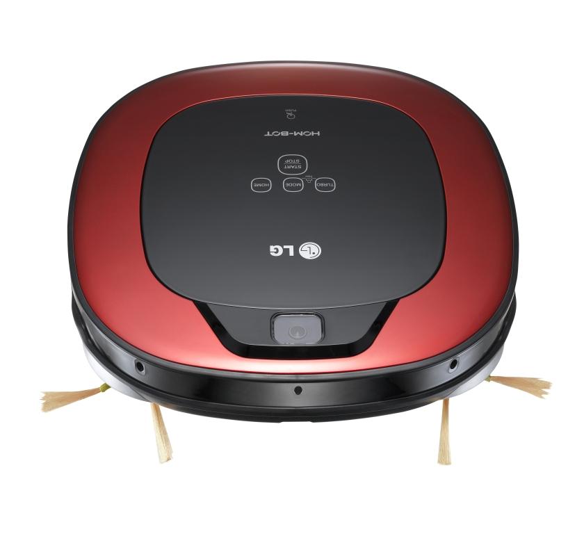 LG Hom Bot prichádza vhranatom tvare ana vysávanie používa dve bočné kefky