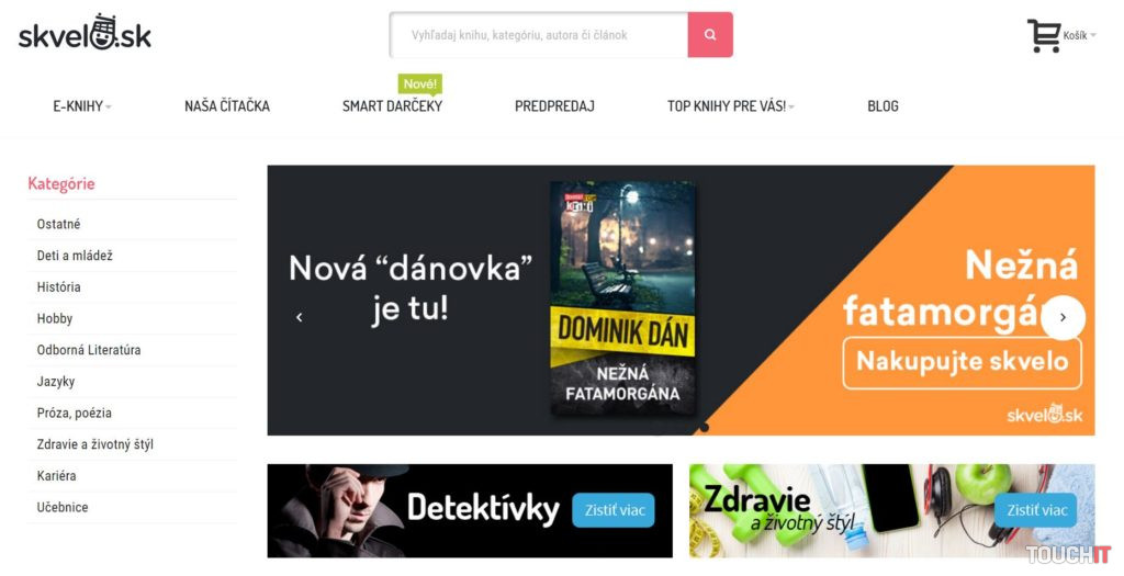 Čítačka je prepojená s obchodom Skvelo.sk