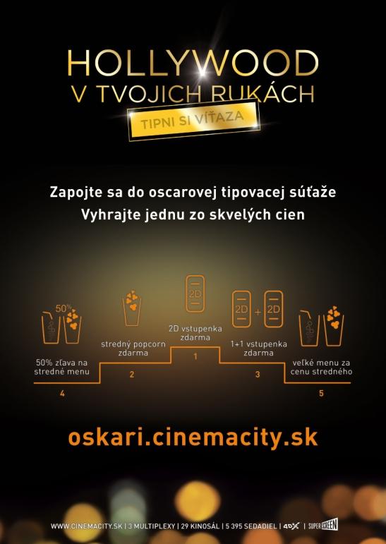 """9464cb989 Tipnúť víťazov si mohli aj všetci tí, ktorí využili aplikáciu Cinema City  Slovensko """"Hollywood v tvojich rukách – Tipni si víťaza""""."""