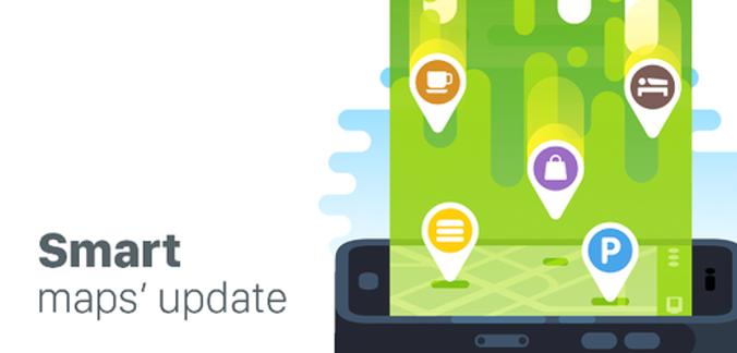 Off-line mapy pre smartfóny Maps me prichádzajú s významnou