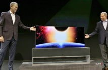 LG rolovateľný televízor