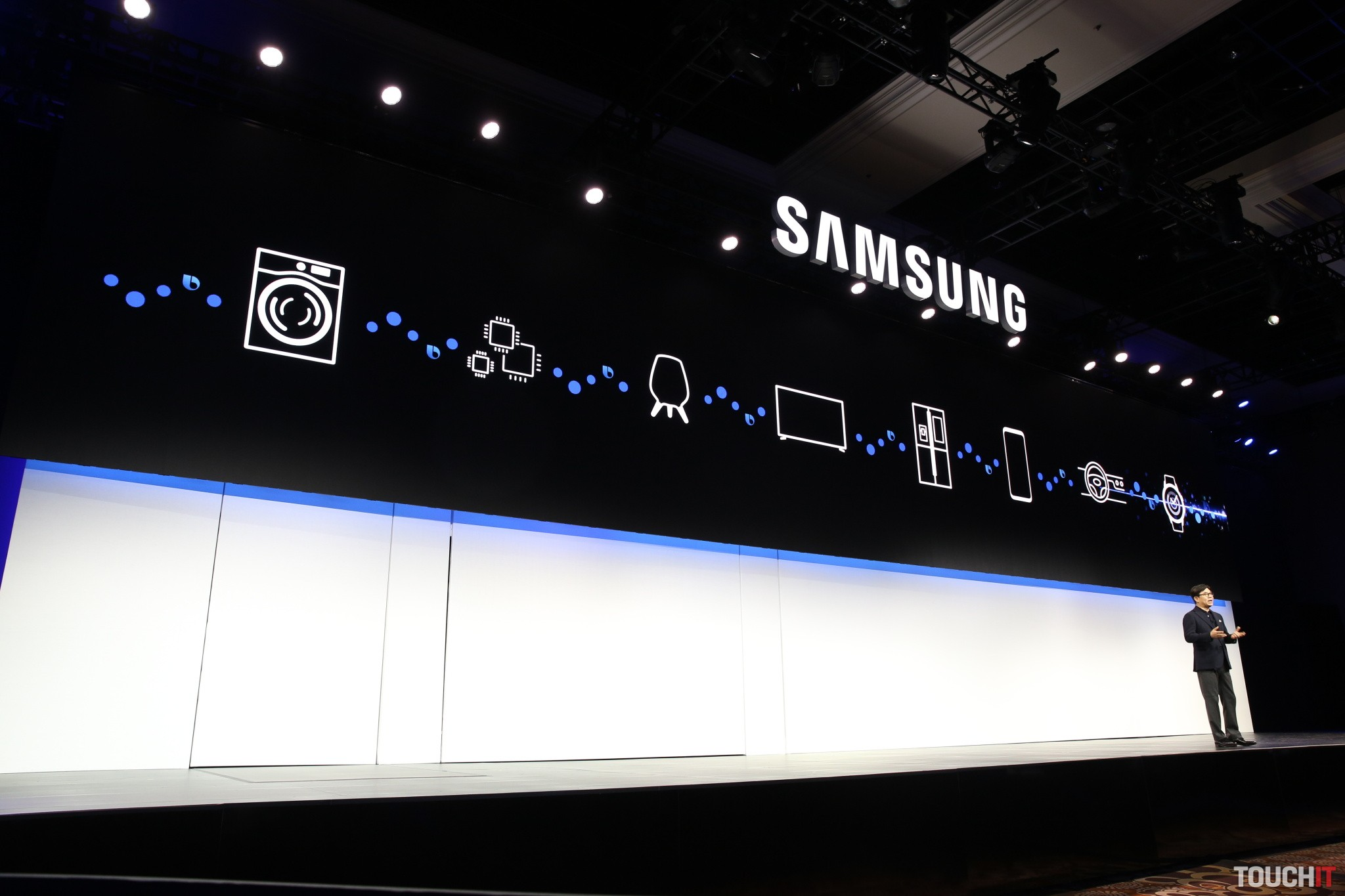 Samsung won robot, connection with Applom, Space Monitor and