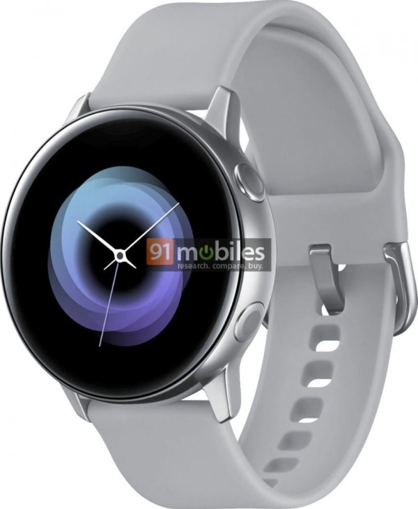 0c94bd579 Galaxy Sport dostanú okrúhly ciferník s tvarovaným krycím sklom. Po  stranách budú mať dve fyzické tlačidlá, rovnako ako sú na Galaxy Watch.