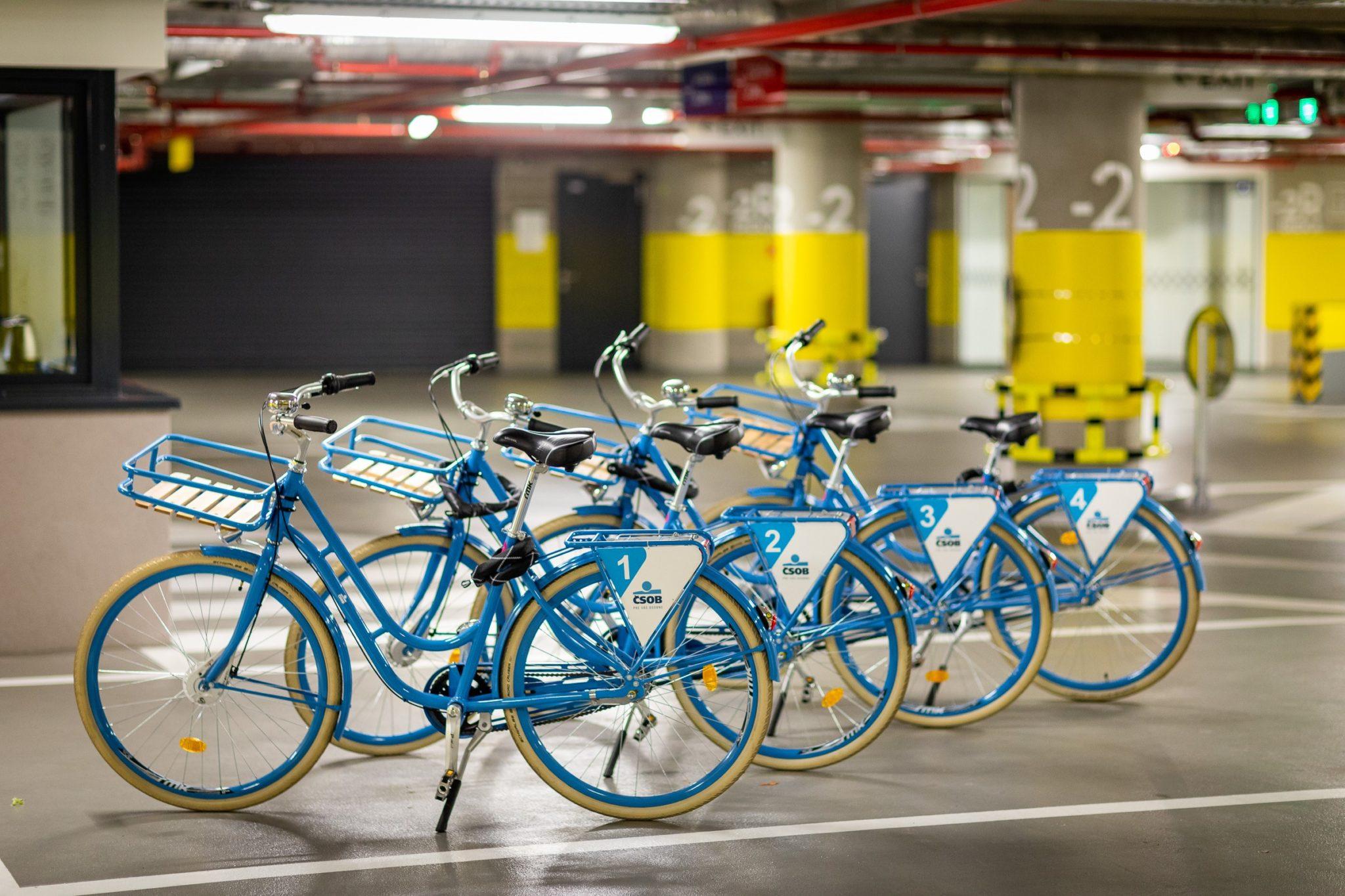 Zamestnanci ČSOB majú k dispozícii aj korporátne bicykle