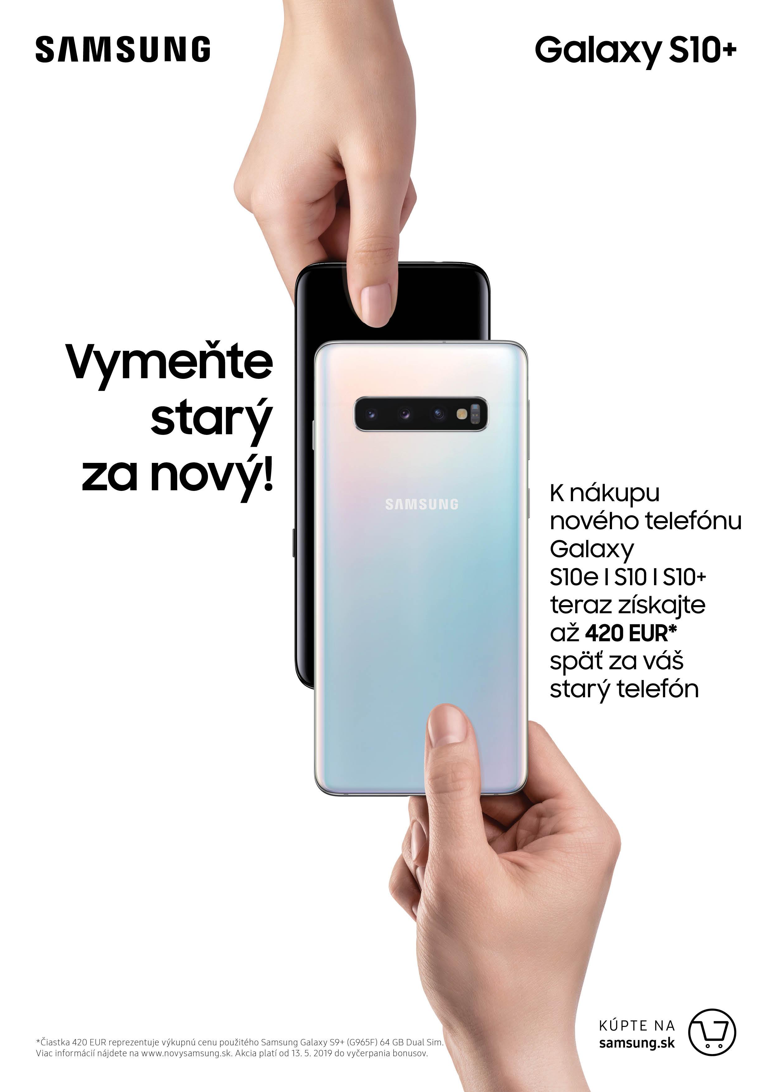 c587c9ee1 Túto akciu je možné využiť pri nákupe nových smartfónov Galaxy S10+, Galaxy  S10 a Galaxy S10e u partnerských predajcov. Ponuka je platná od 13. 5.