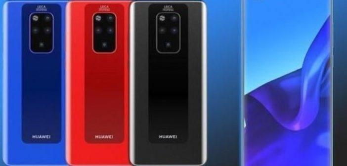 Huawei Mate 30 Pro na prvých obrázkoch: Unikátny displej a zadné fotoaparáty v tvare V