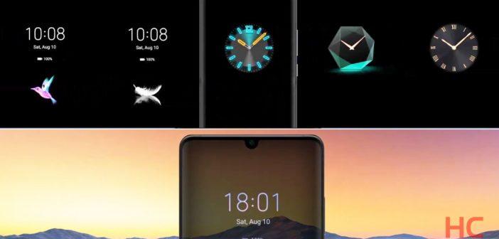 Huawei: Prispôsobenie Always-on displeja v EMUI 10 príde dodatočne. Dostanú ho tieto telefóny