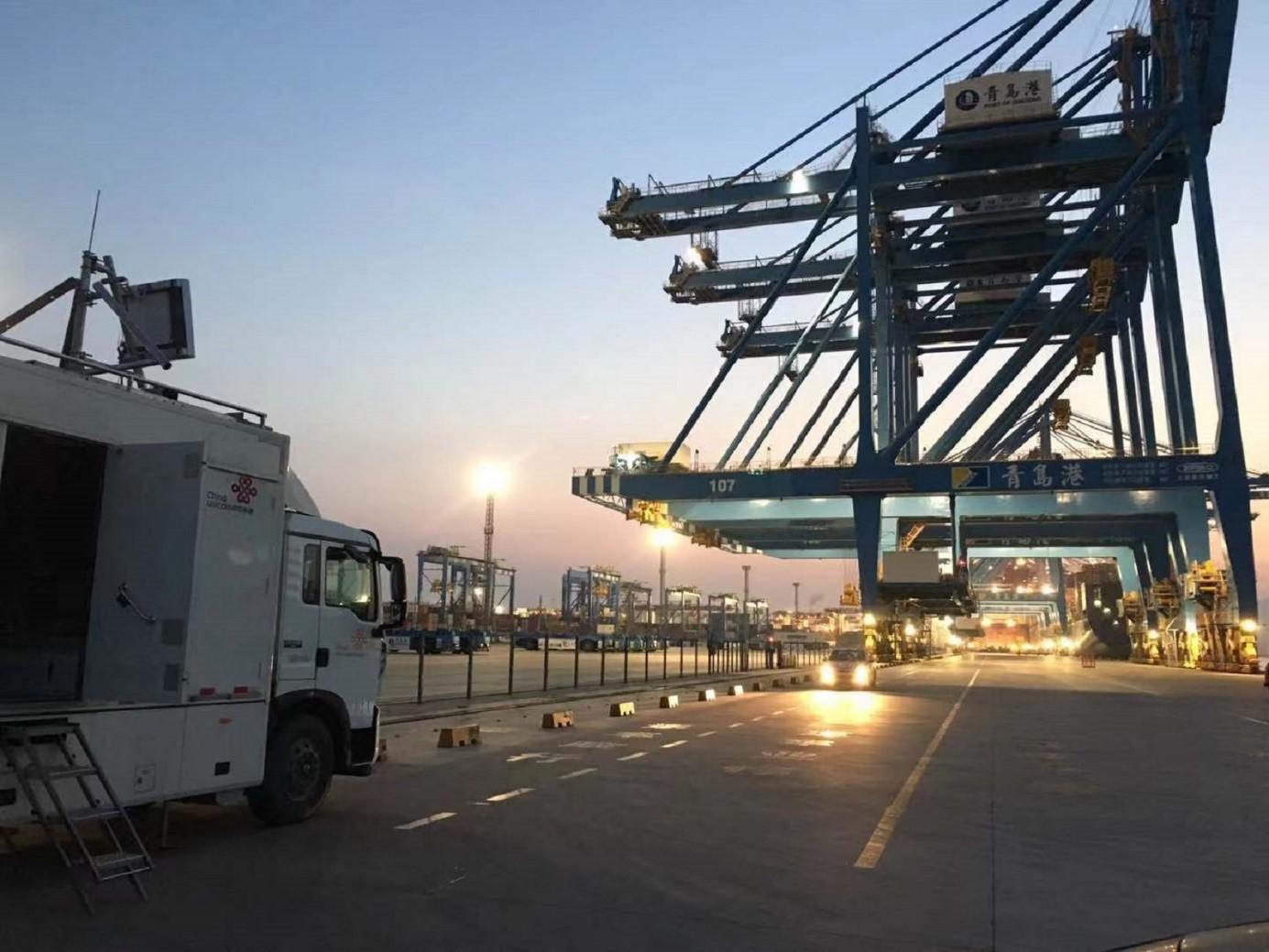 Ericsson a China Unicom vyvíjajú inteligentný 5G prístav v čínskom Port of Qingdao. (Zdroj: Ericsson)