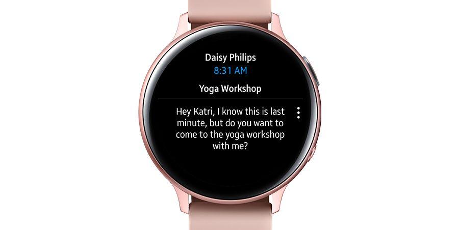 Microsoft Outlook pre inteligentné hodinky Samsung Galaxy Watch