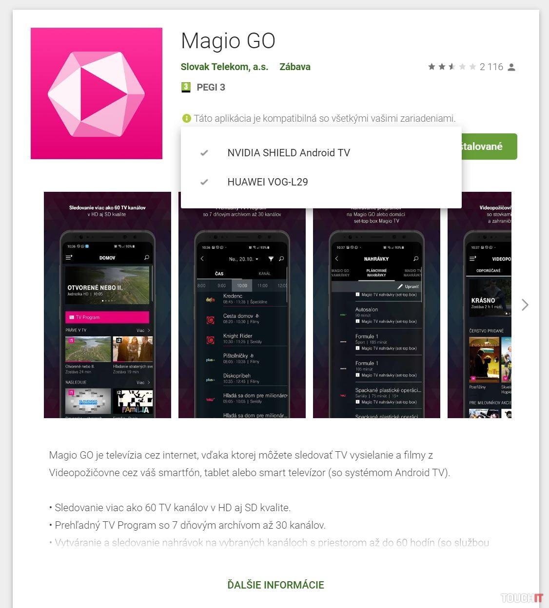 Magio GO pre Android TV