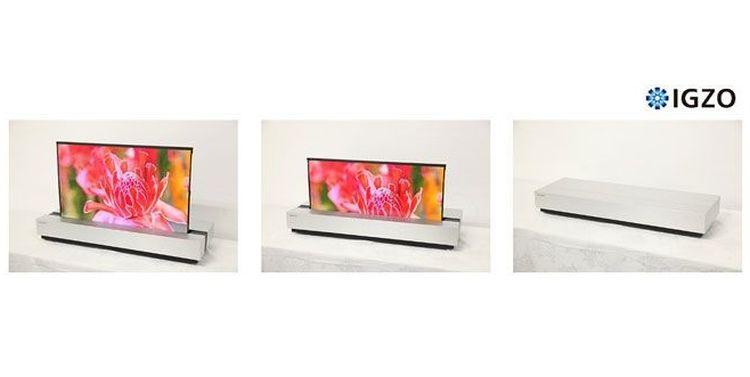 Rolovateľný televízor od Sharpu