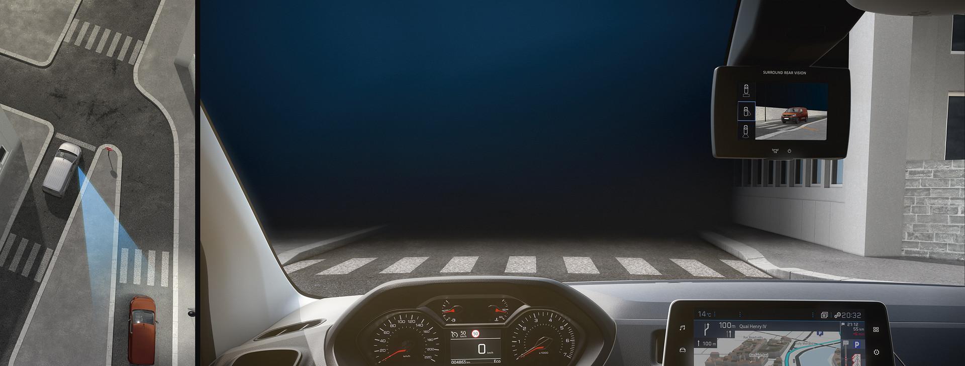 Bočné videnie na Peugeot Parnter