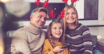 Sledovanie televízie počas Vianoc