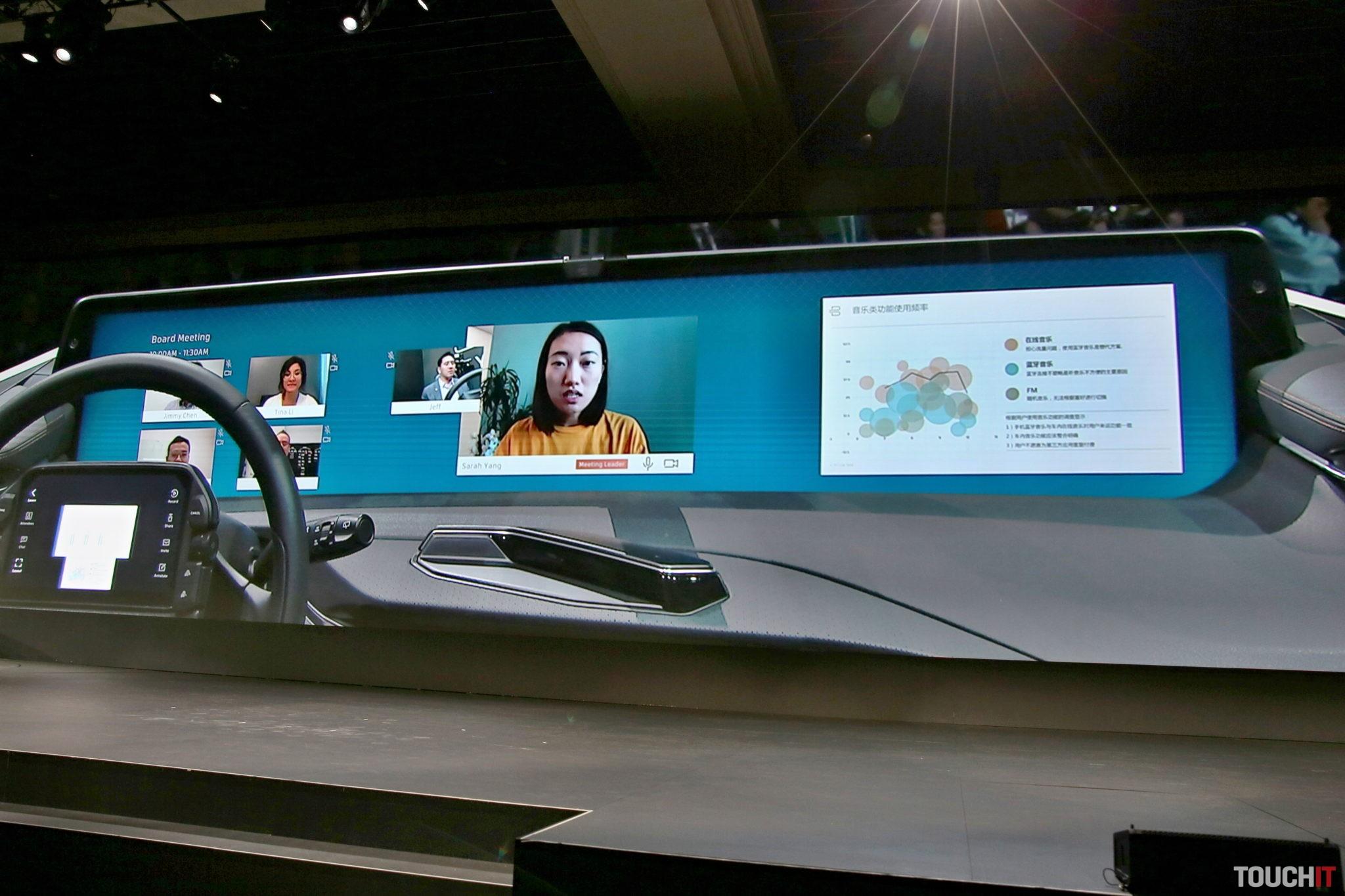 Video konferencia priamo v aute