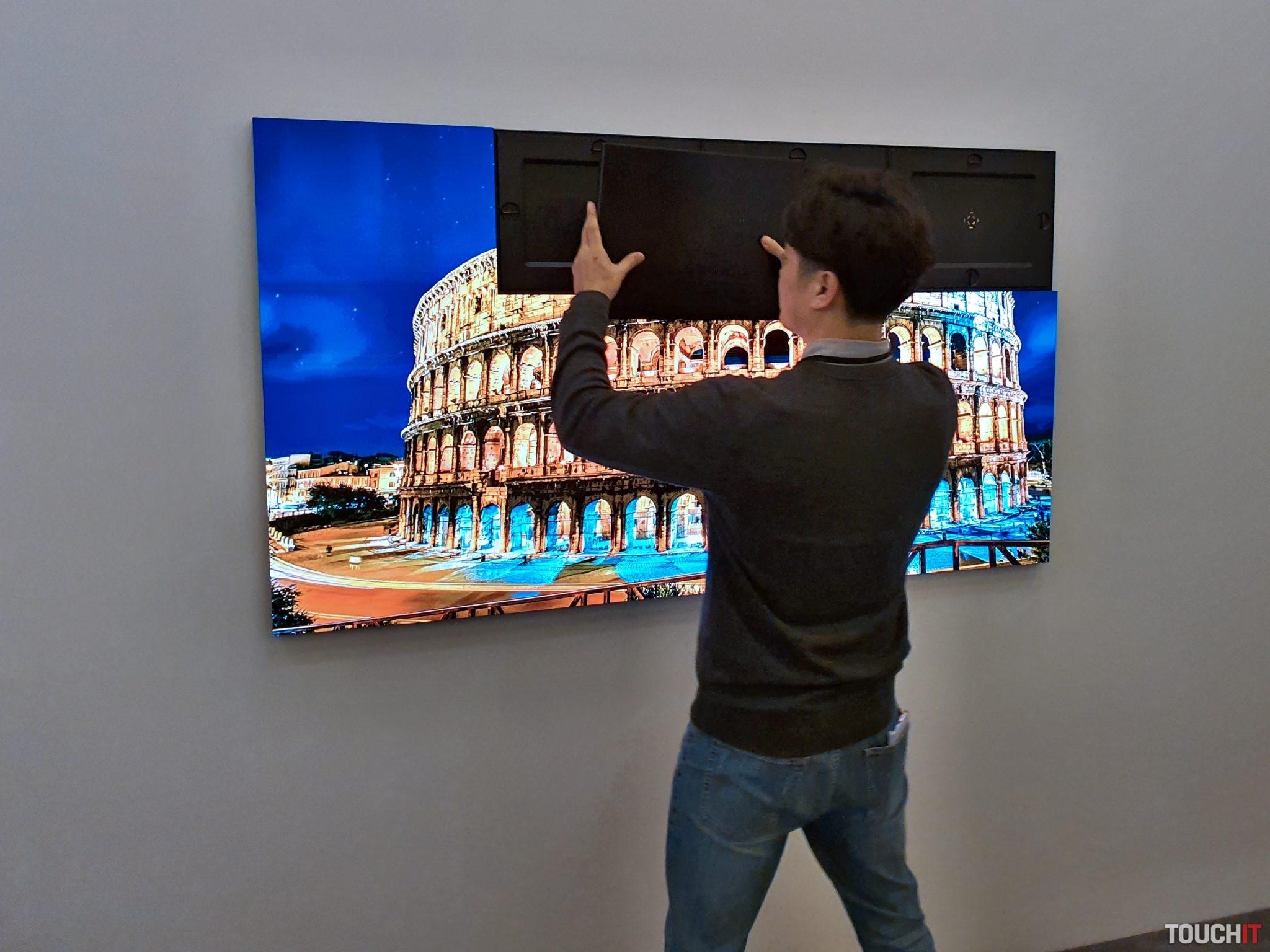 Modulárna štruktúra Samsung The Wall TV
