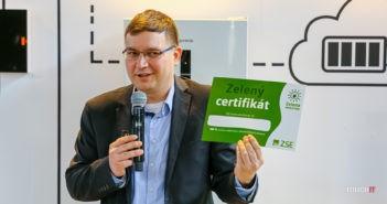Certifikát pre zelenú energiu od ZSE