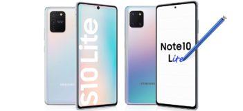 Samsung Galaxy S10 Lite a Note10 Lite