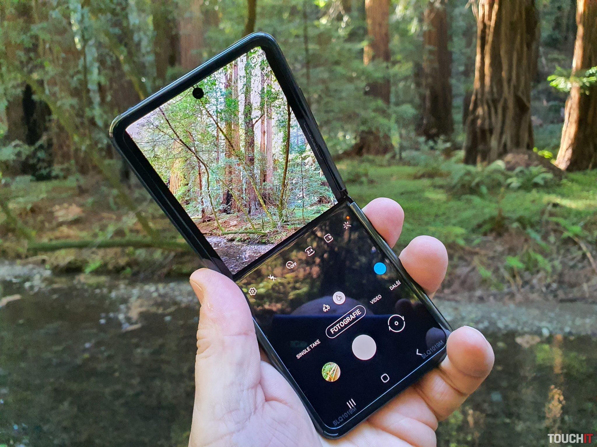 Galaxy Z Flip pri fotení prírody