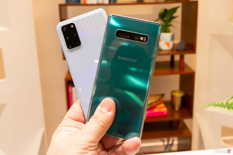 Generačný rozdiel: Vľavo Galaxy S20+, vpravo S10+
