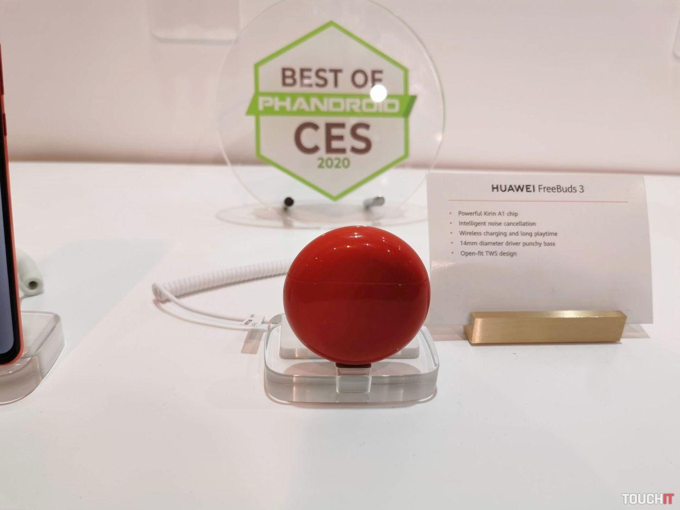 Huawei FreeBuds 3 v červenej farbe
