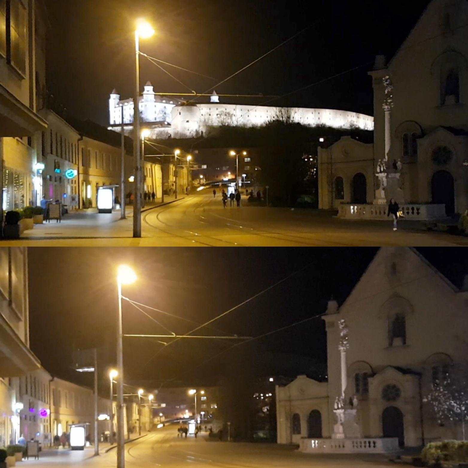 Bratislavský hrad na Hodinu Zeme