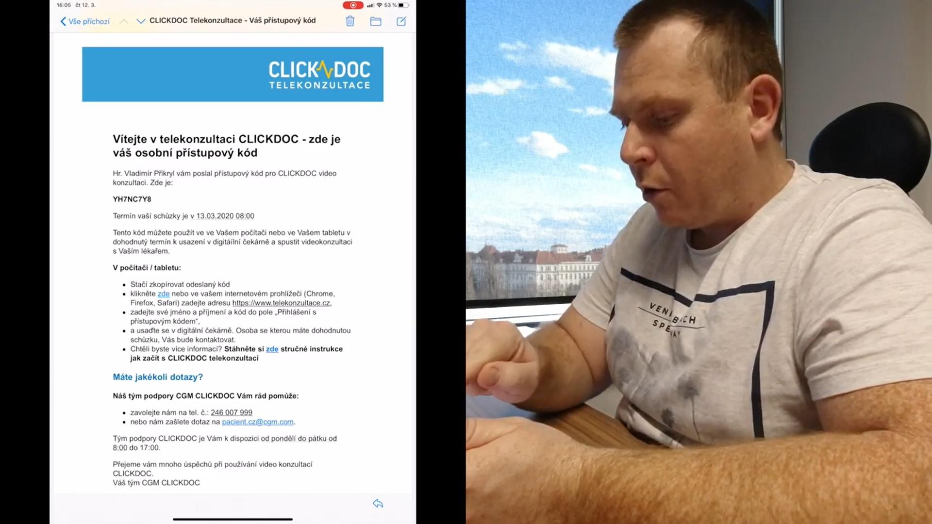 Pacient dostáva takúto on-line pozvánku a nemusí sa nikam registrovať
