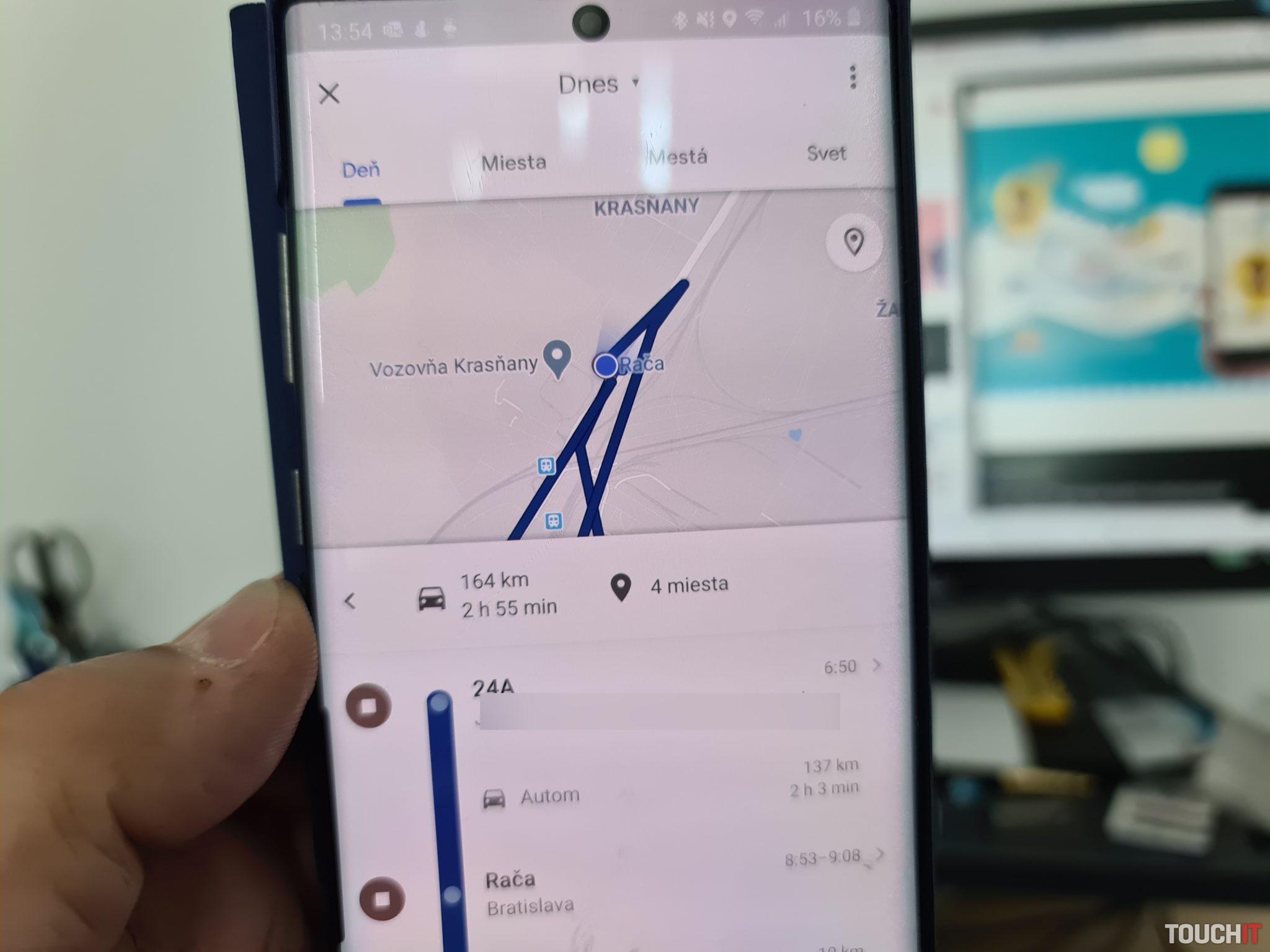 Presná poloha, ktorú poskytujú napr. Google mapy