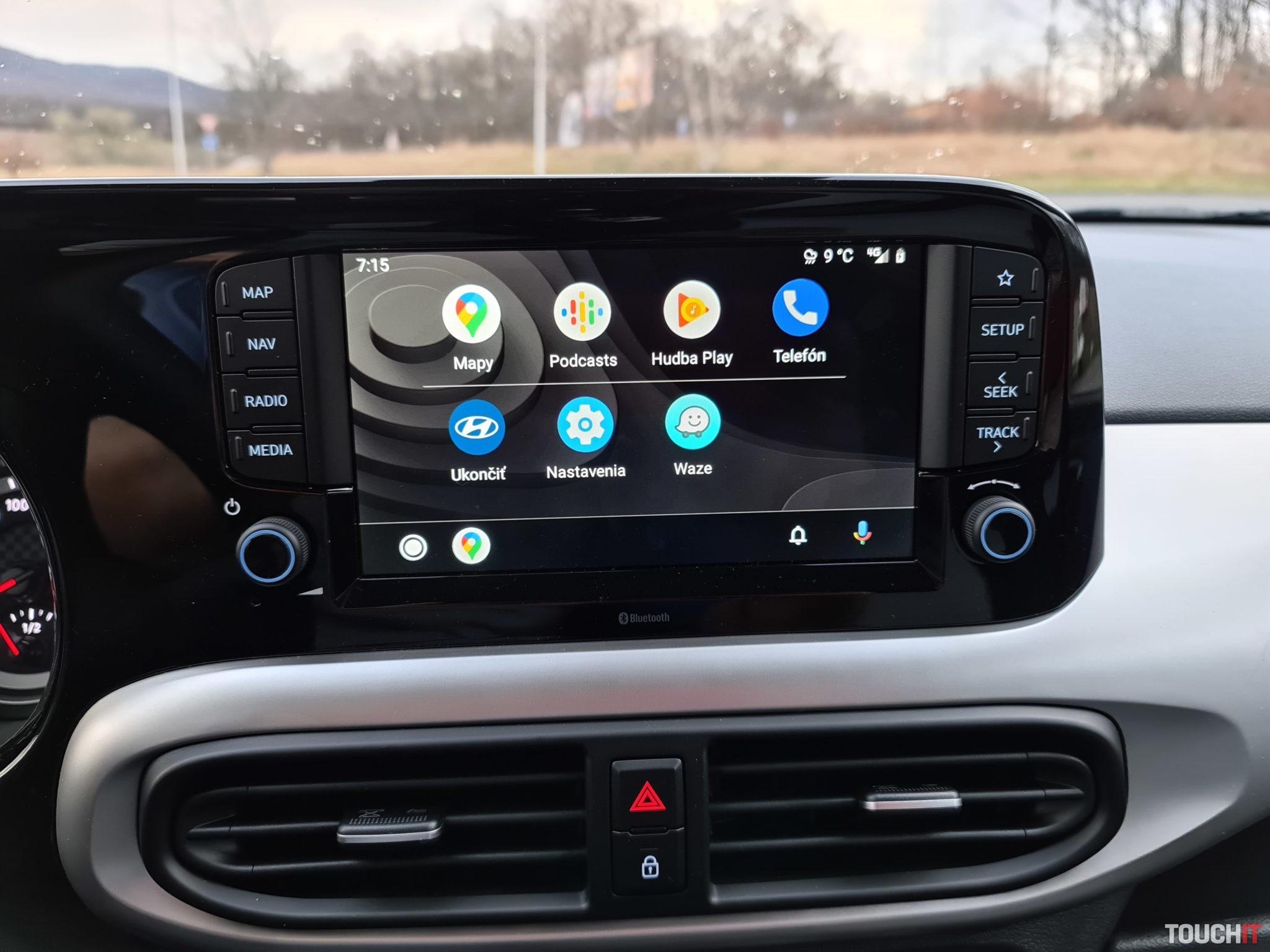 Android Auto na Hyundai i10