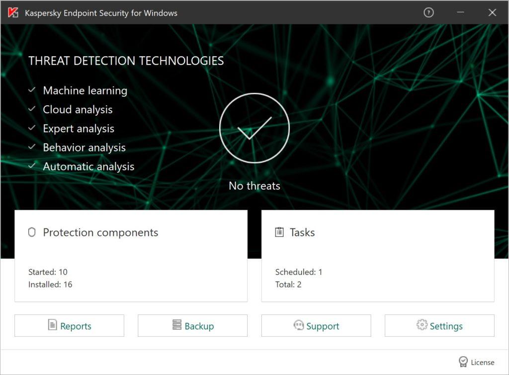 Cloudová ochrana Kaspersky Endpoint Security Cloud nainštalovaná v počítači
