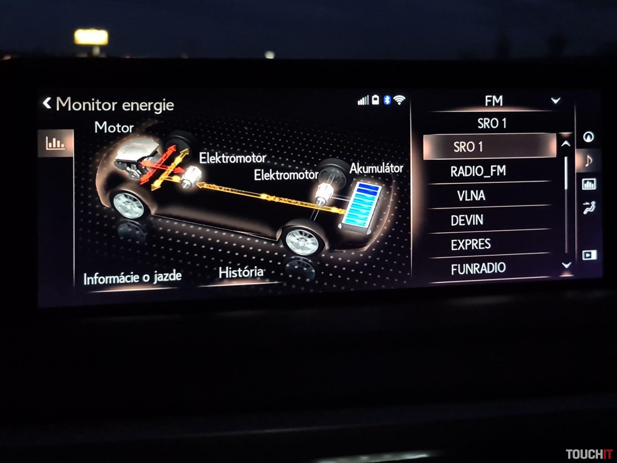 Rozdeľovanie energie v RX 450hL