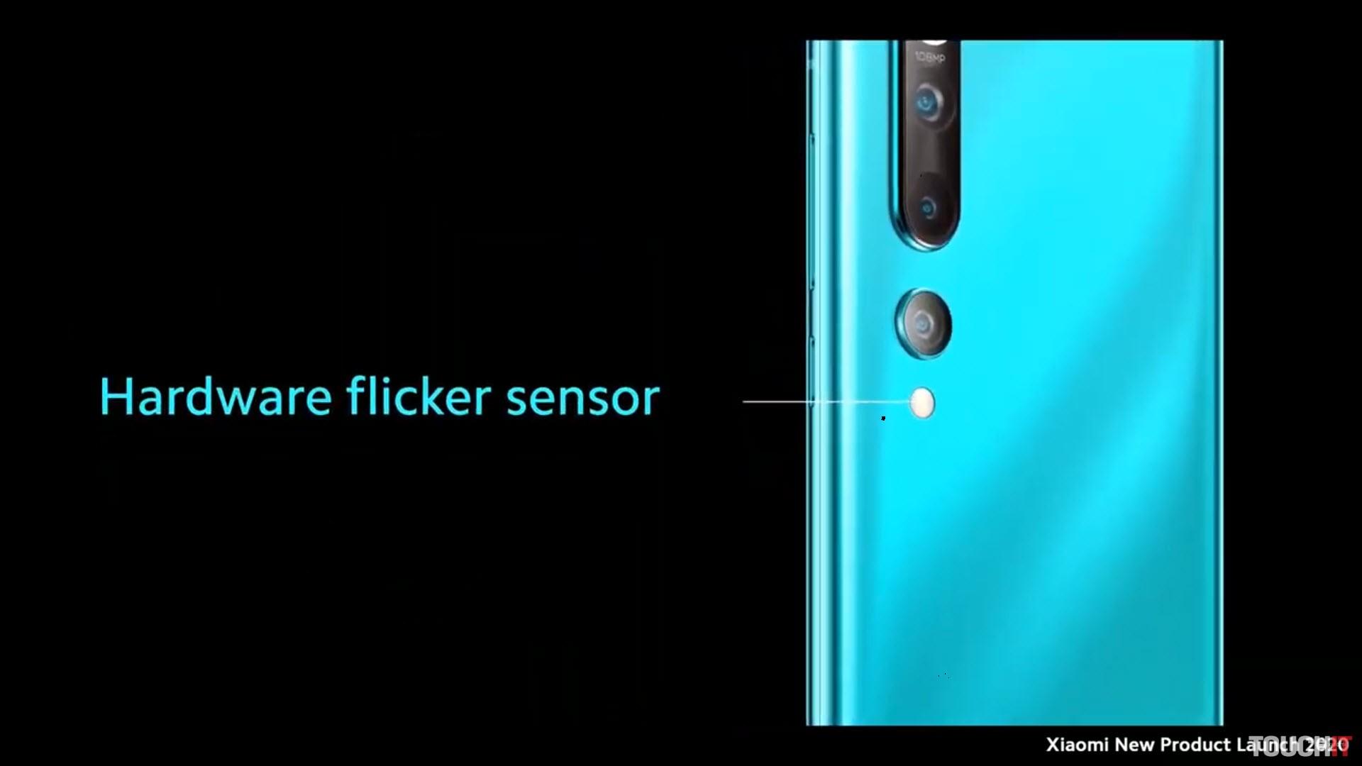 Snímač blikania na zadnej strane Xiaomi Mi 10 Pro